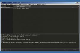 已解决sublime text 运行python程序后提示C:\Python27\python.exe: can't find '__main__' module in ''